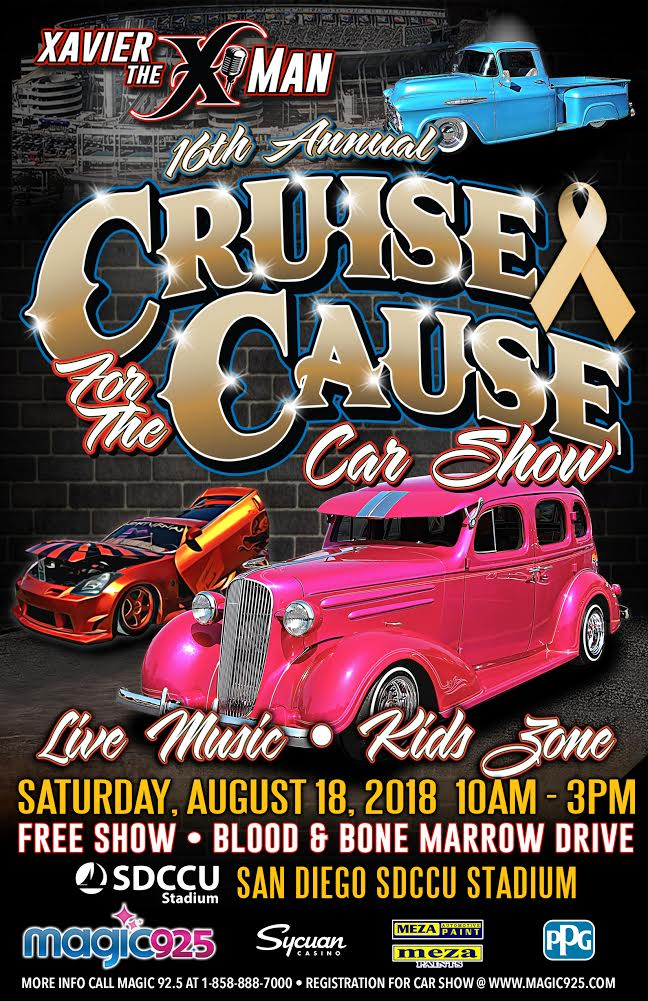 Xavier The XMans Cruise For The Cause August Th XMan Show - San diego lowrider car show 2018